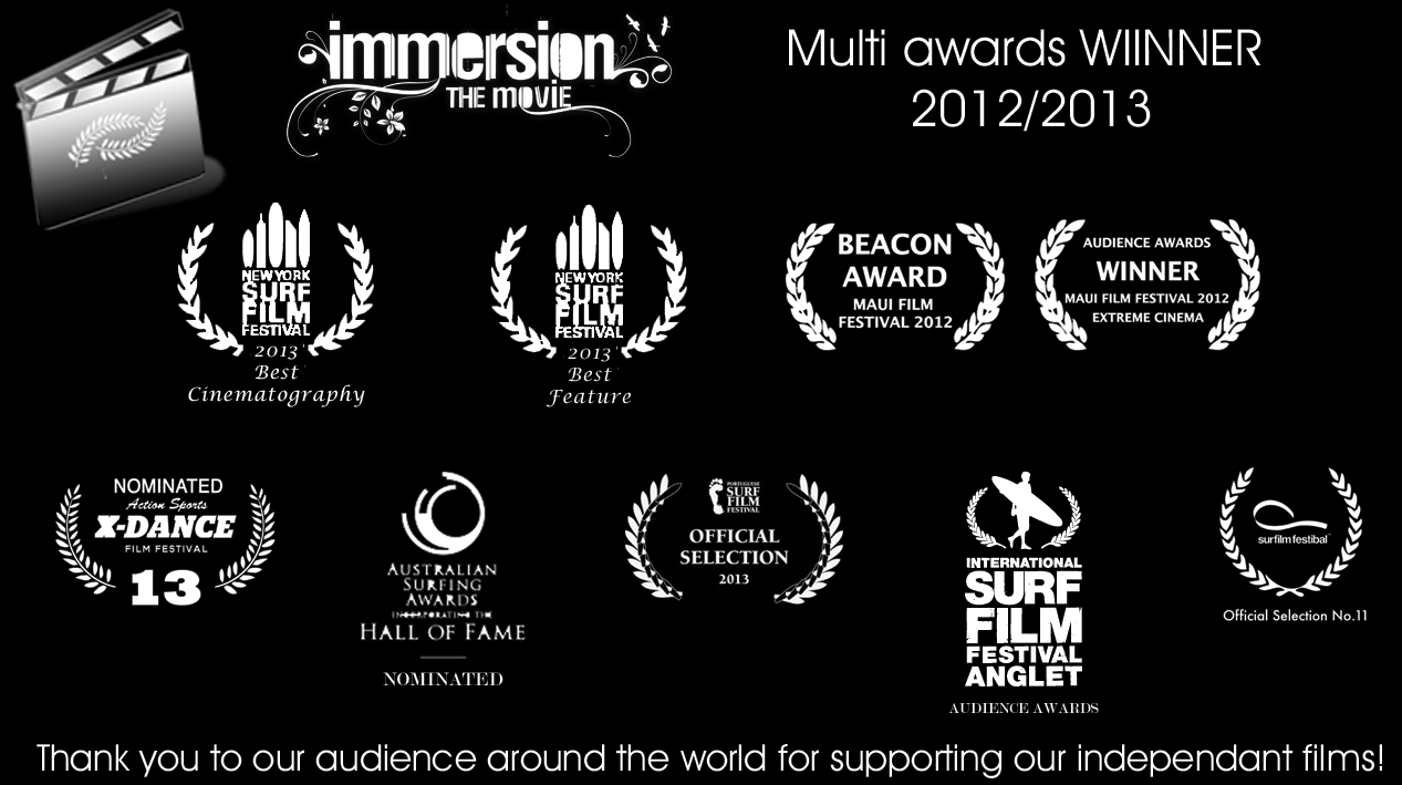Immersion The Movie Awards Surfing Visions Feature Surf Movies