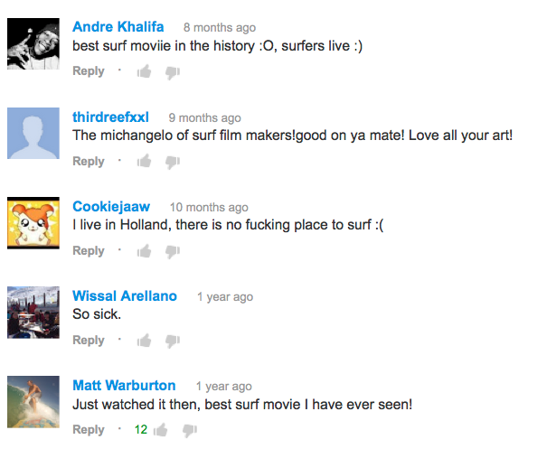 you tube comments on Immersion the movie